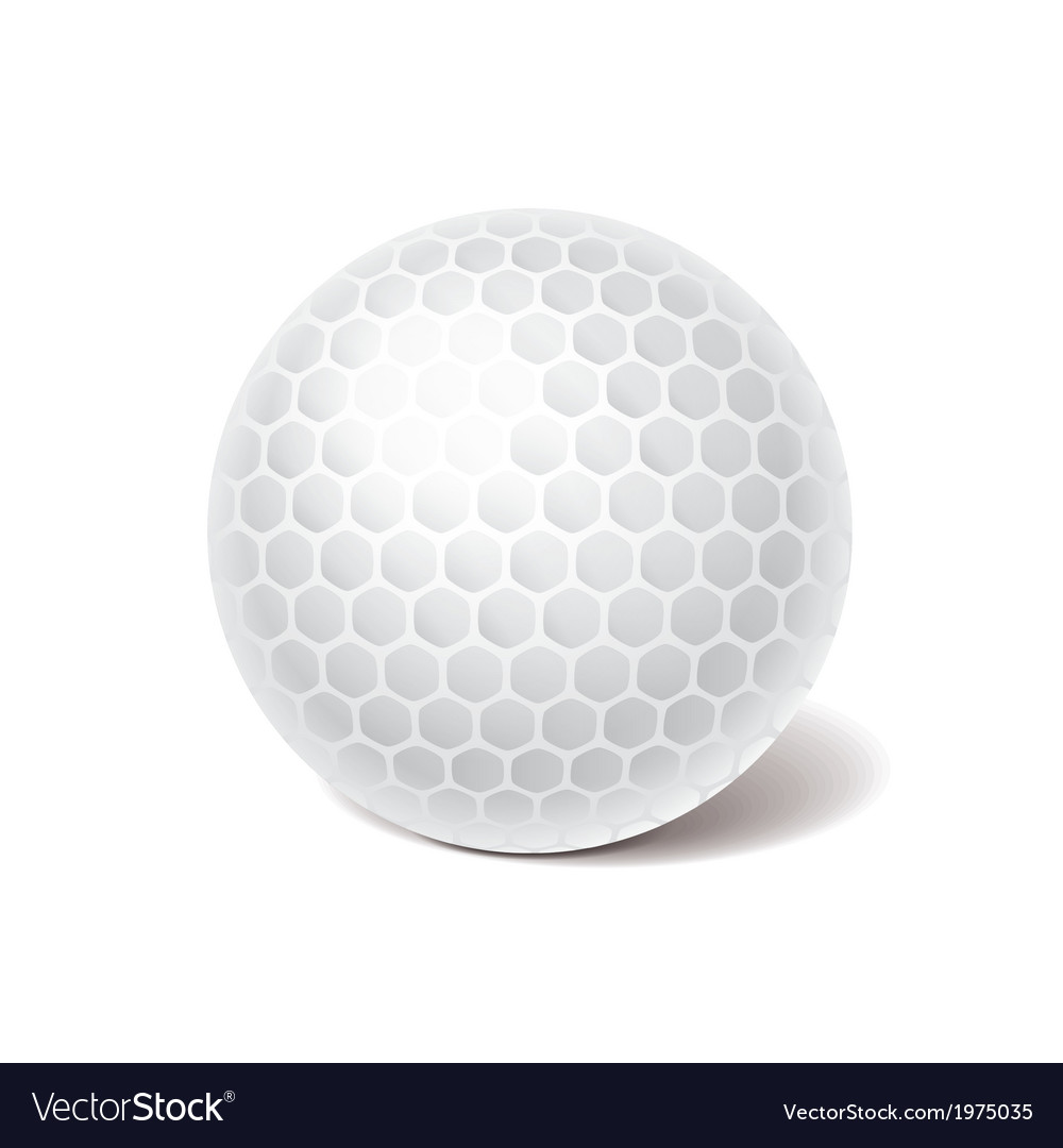 Object golf ball vector | Price: 1 Credit (USD $1)