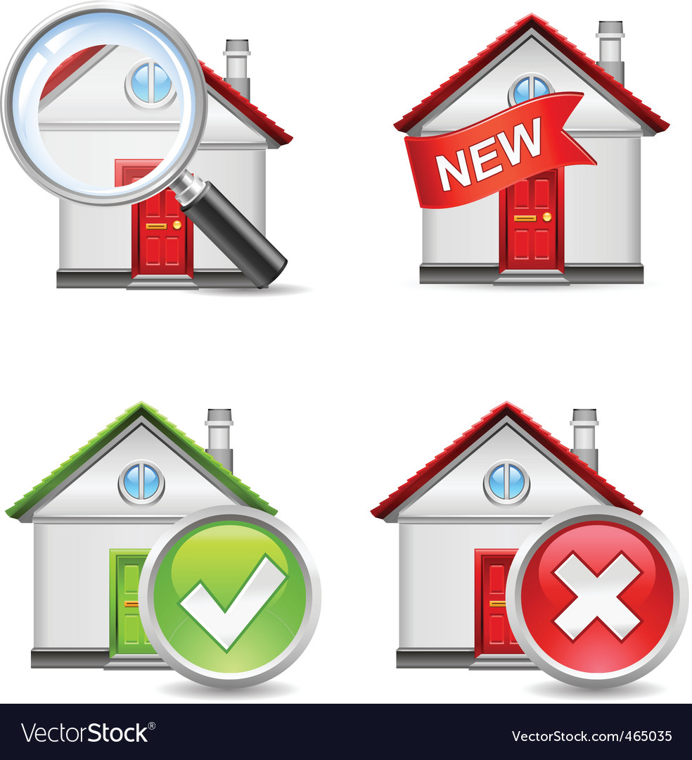 Real estate icons set 1 vector | Price: 3 Credit (USD $3)