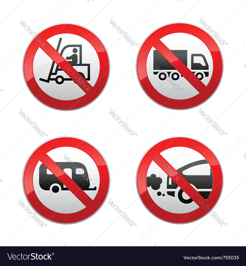 Set prohibited symbols - transport vector | Price: 1 Credit (USD $1)