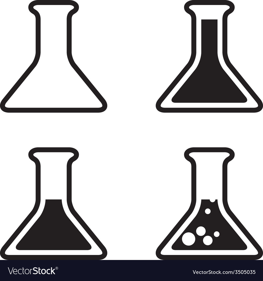 Test tube icons vector | Price: 1 Credit (USD $1)