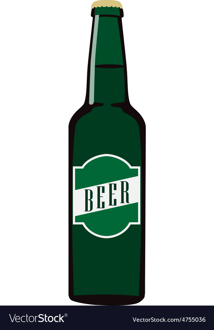 Beer bottle with label vector | Price: 1 Credit (USD $1)