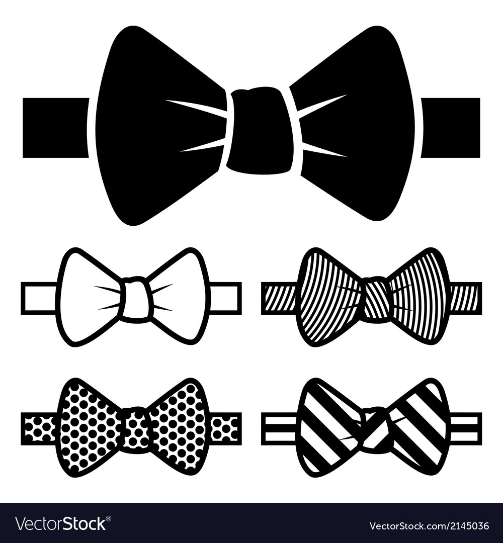 Bow tie icons set vector | Price: 1 Credit (USD $1)