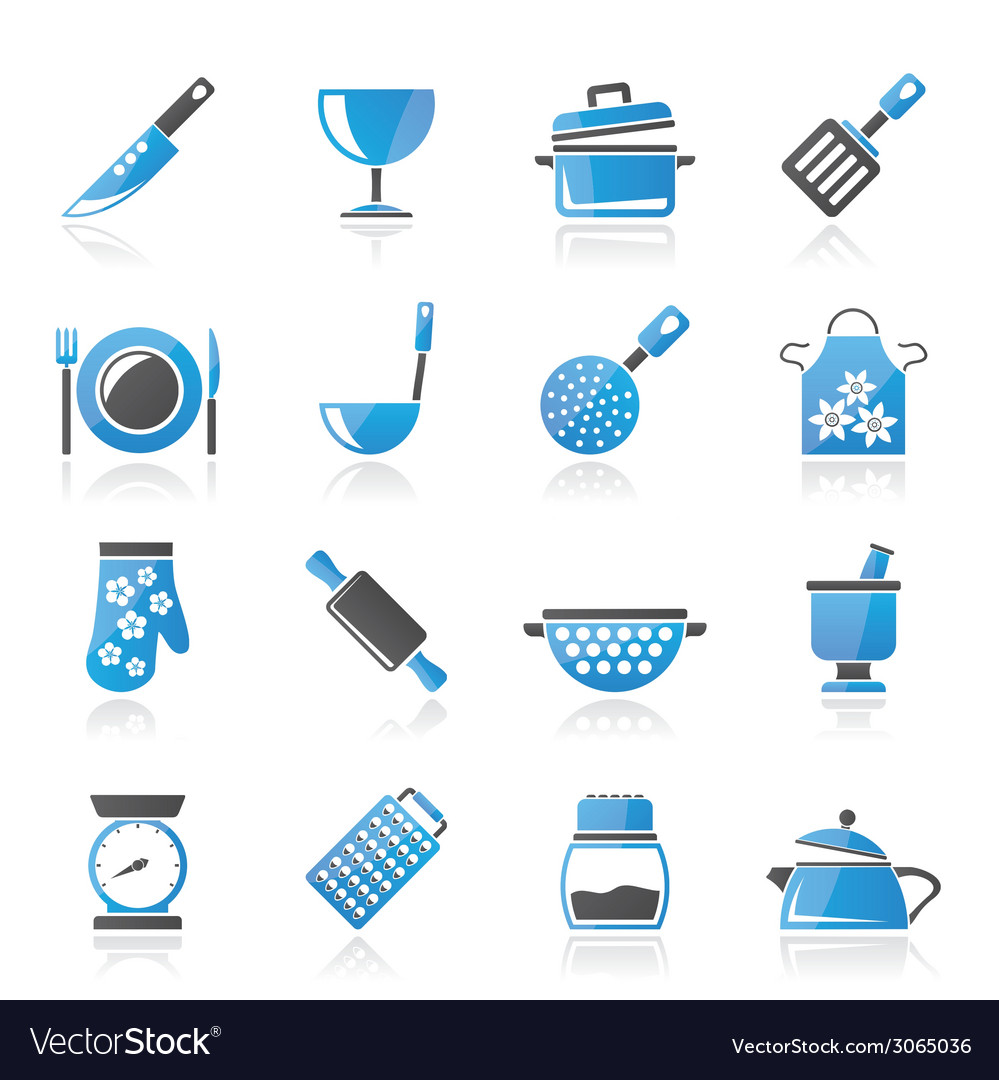 Cooking equipment icons vector | Price: 1 Credit (USD $1)