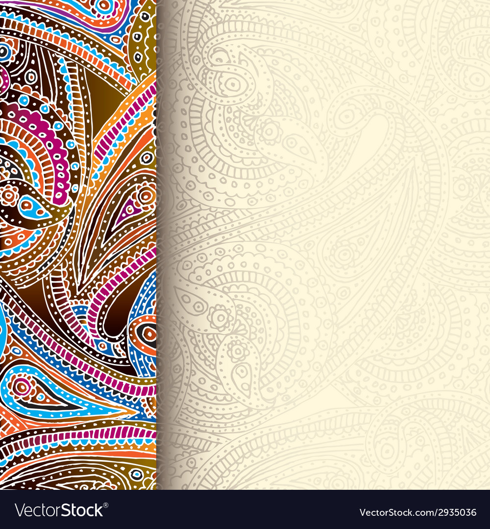 Decorative border background vector | Price: 1 Credit (USD $1)