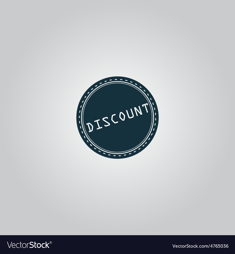 Discount icon badge label or sticker vector | Price: 1 Credit (USD $1)
