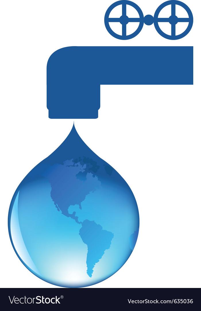 Drop of water vector | Price: 1 Credit (USD $1)