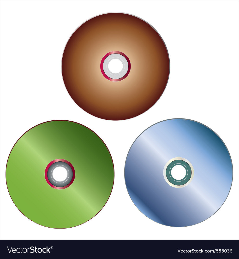 Dvd discs vector | Price: 1 Credit (USD $1)