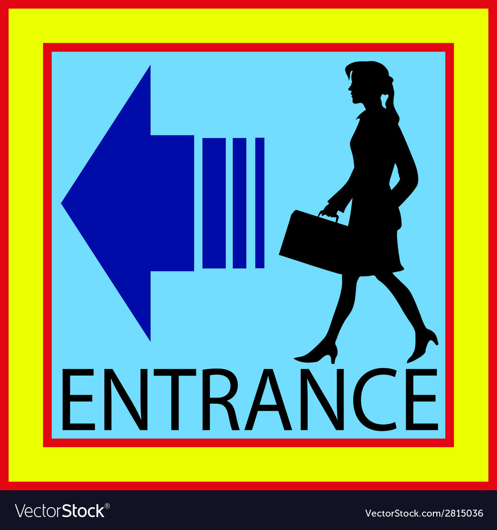 Entrance square buttons sign door with human vector | Price: 1 Credit (USD $1)