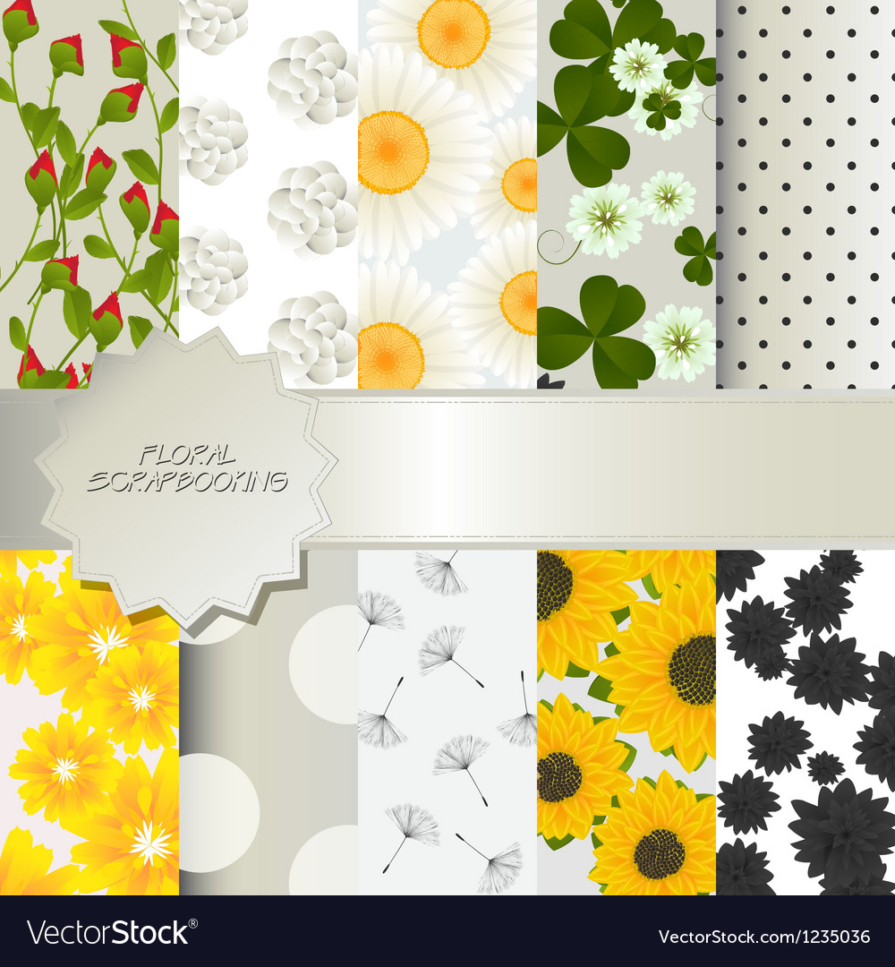 Floral scrapbooking vector | Price: 1 Credit (USD $1)