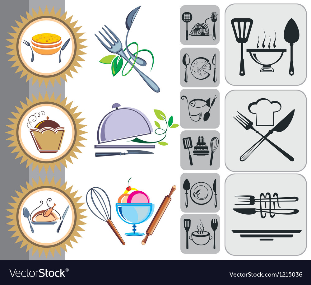 Food and drink icons set vector | Price: 1 Credit (USD $1)