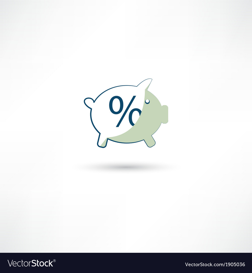 Moneybox and percent vector | Price: 1 Credit (USD $1)