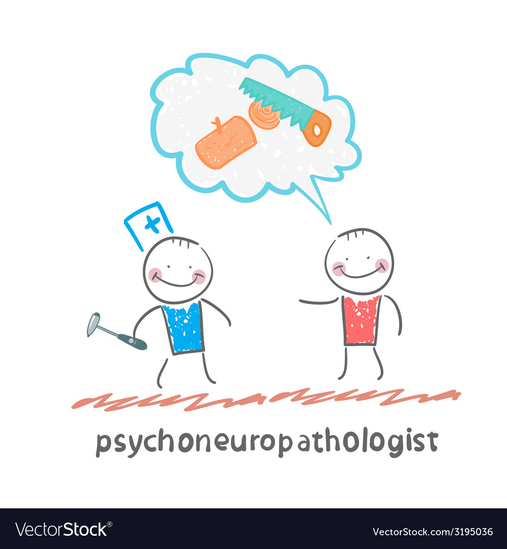 Psychoneuropathologist speaks with the patient on vector | Price: 1 Credit (USD $1)