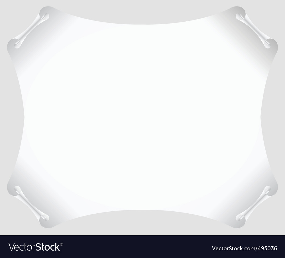 Scroll paper vector blank vector | Price: 1 Credit (USD $1)