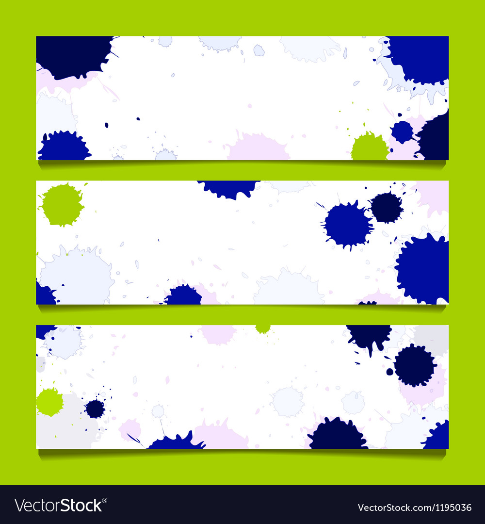 Set of three banners abstract headers vector | Price: 1 Credit (USD $1)
