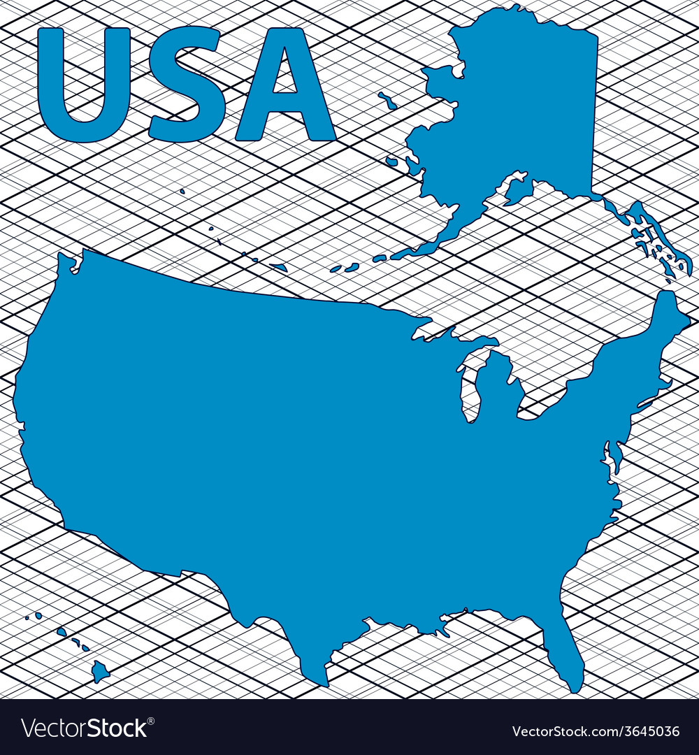Usa map vector | Price: 1 Credit (USD $1)