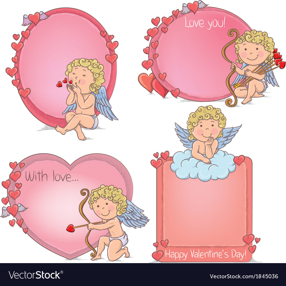 Vignettes valentines day vector | Price: 1 Credit (USD $1)