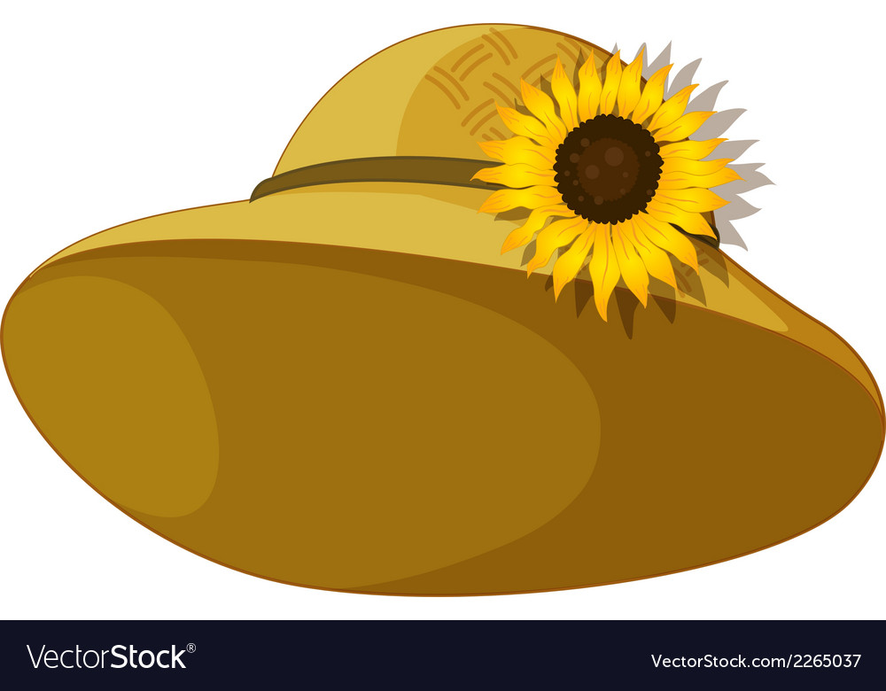 A fashionable hat with a sunflower vector | Price: 1 Credit (USD $1)