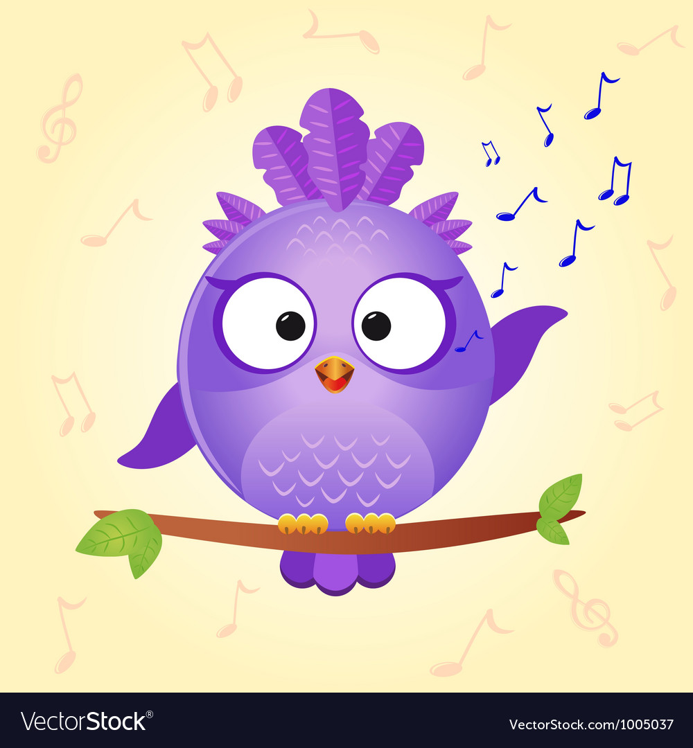 Bird sing vector | Price: 1 Credit (USD $1)