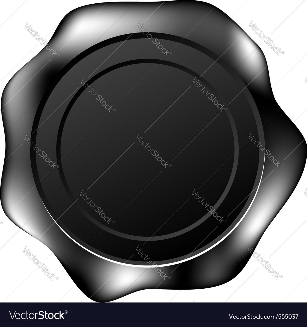 Black wax seal vector | Price: 1 Credit (USD $1)