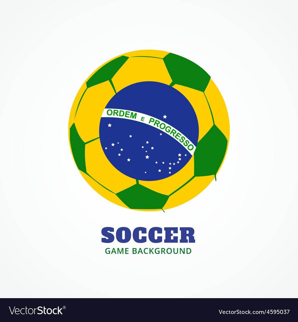 Brazil football design vector | Price: 1 Credit (USD $1)
