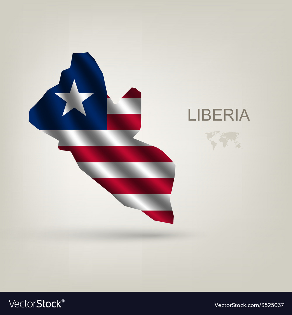 Flag of liberia as the country vector | Price: 1 Credit (USD $1)