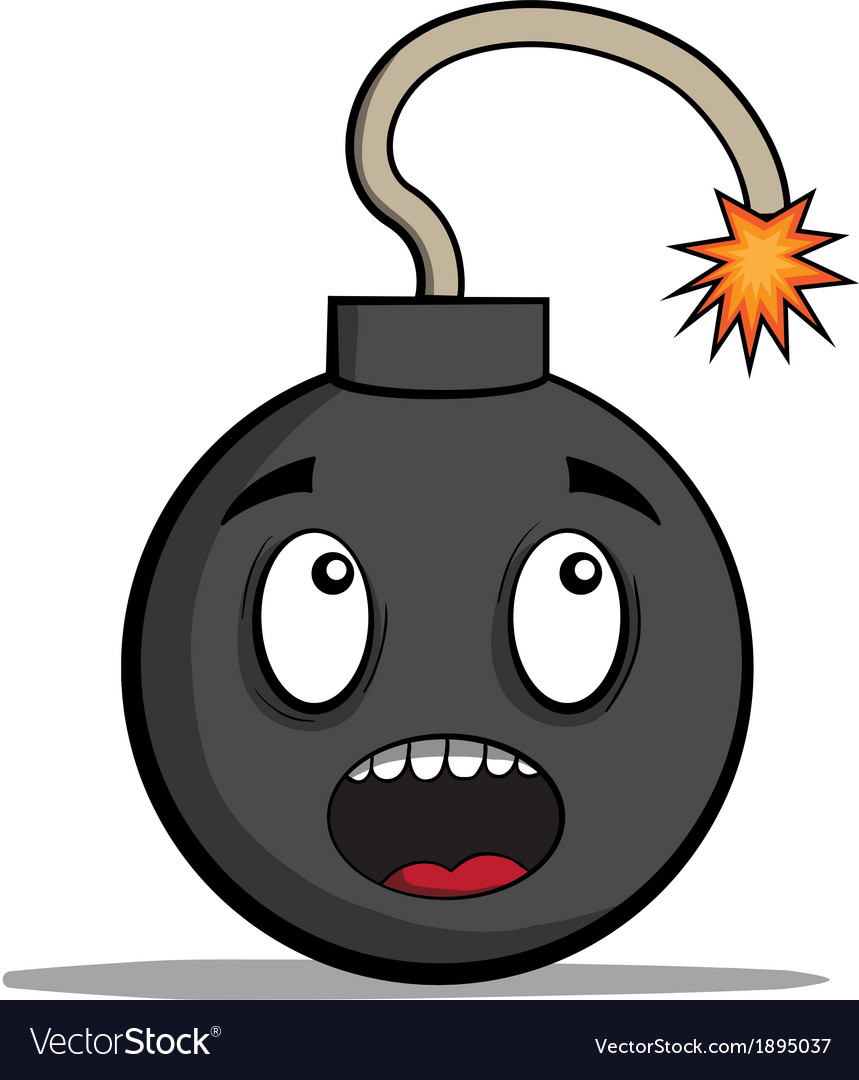 Funky cartoon bomb ready to explode vector | Price: 1 Credit (USD $1)