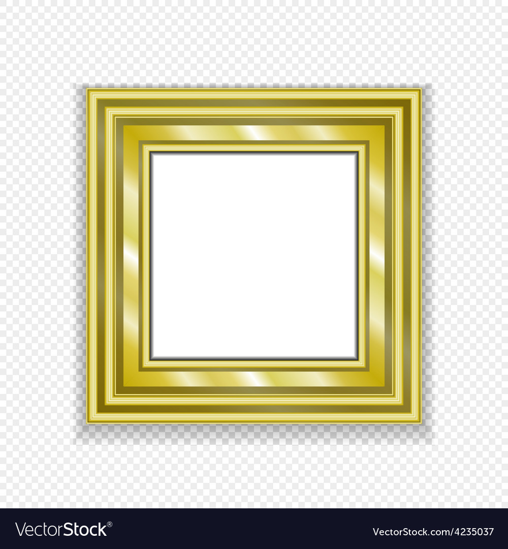 Gold vintage frame decorative picture vector | Price: 1 Credit (USD $1)