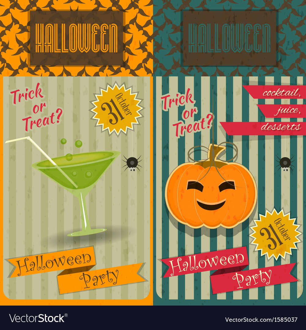 Halloween party invitation vector   Price: 1 Credit (USD $1)