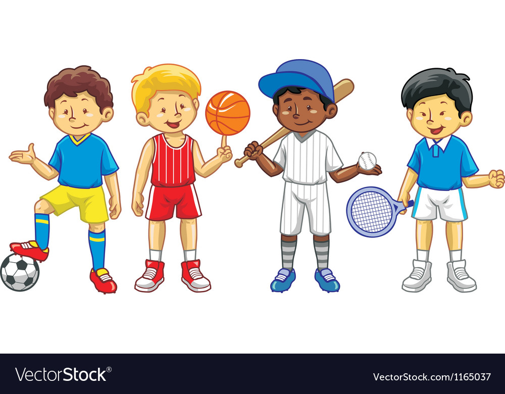 Kids in various sport activity vector | Price: 3 Credit (USD $3)