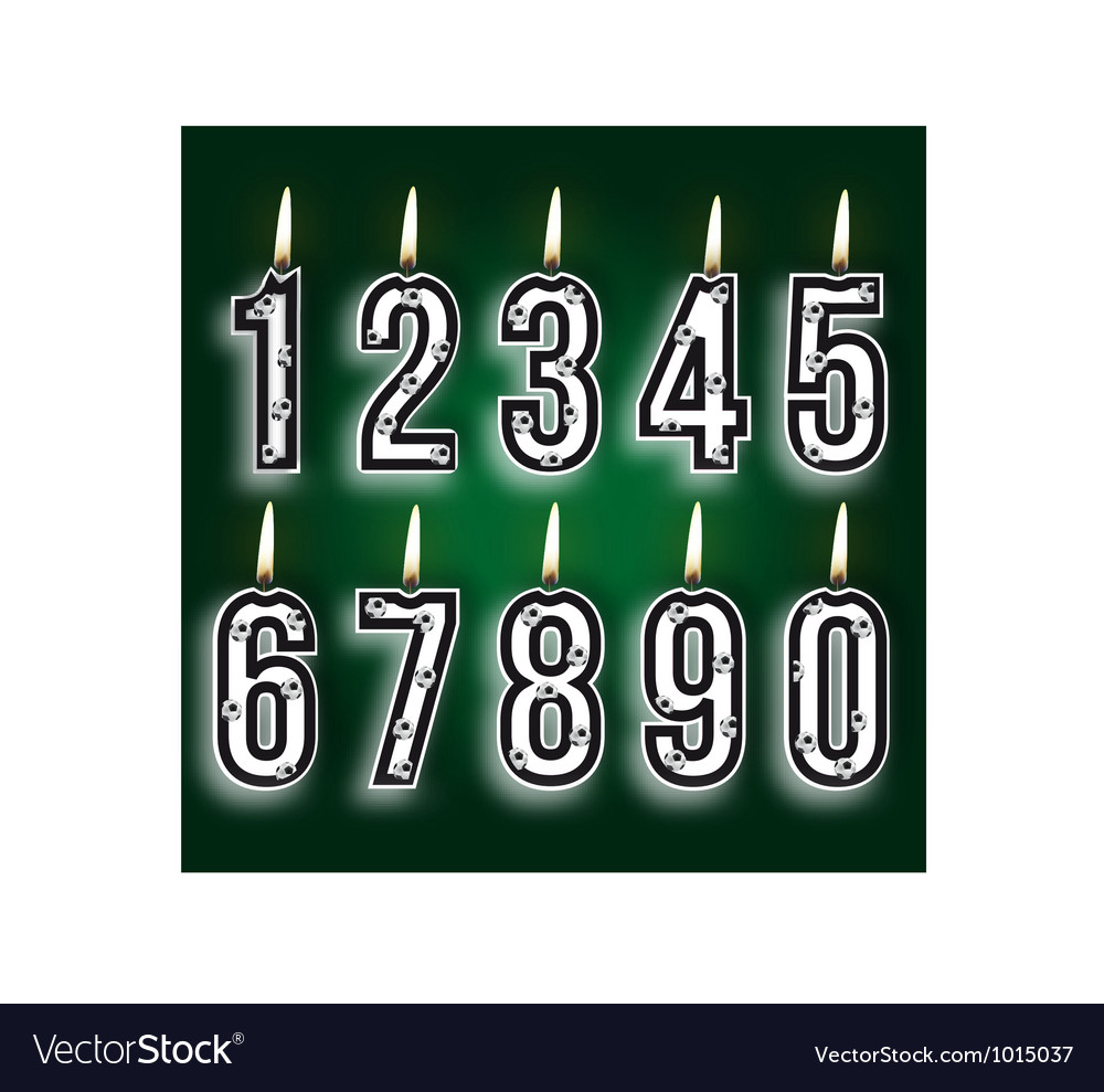 Numeral birthday candles vector