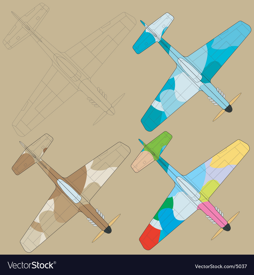 Painting planes vector | Price: 1 Credit (USD $1)
