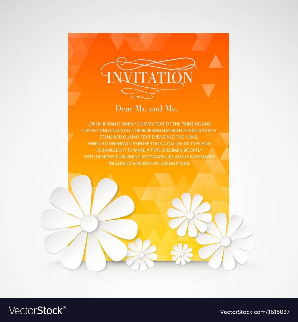 Paper flower postcard vector | Price: 1 Credit (USD $1)