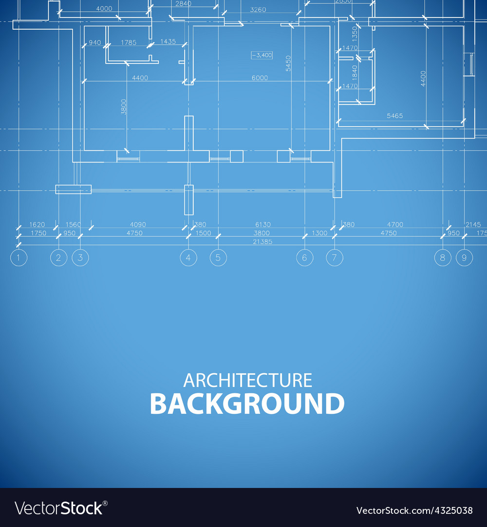 Blueprint building background vector | Price: 1 Credit (USD $1)