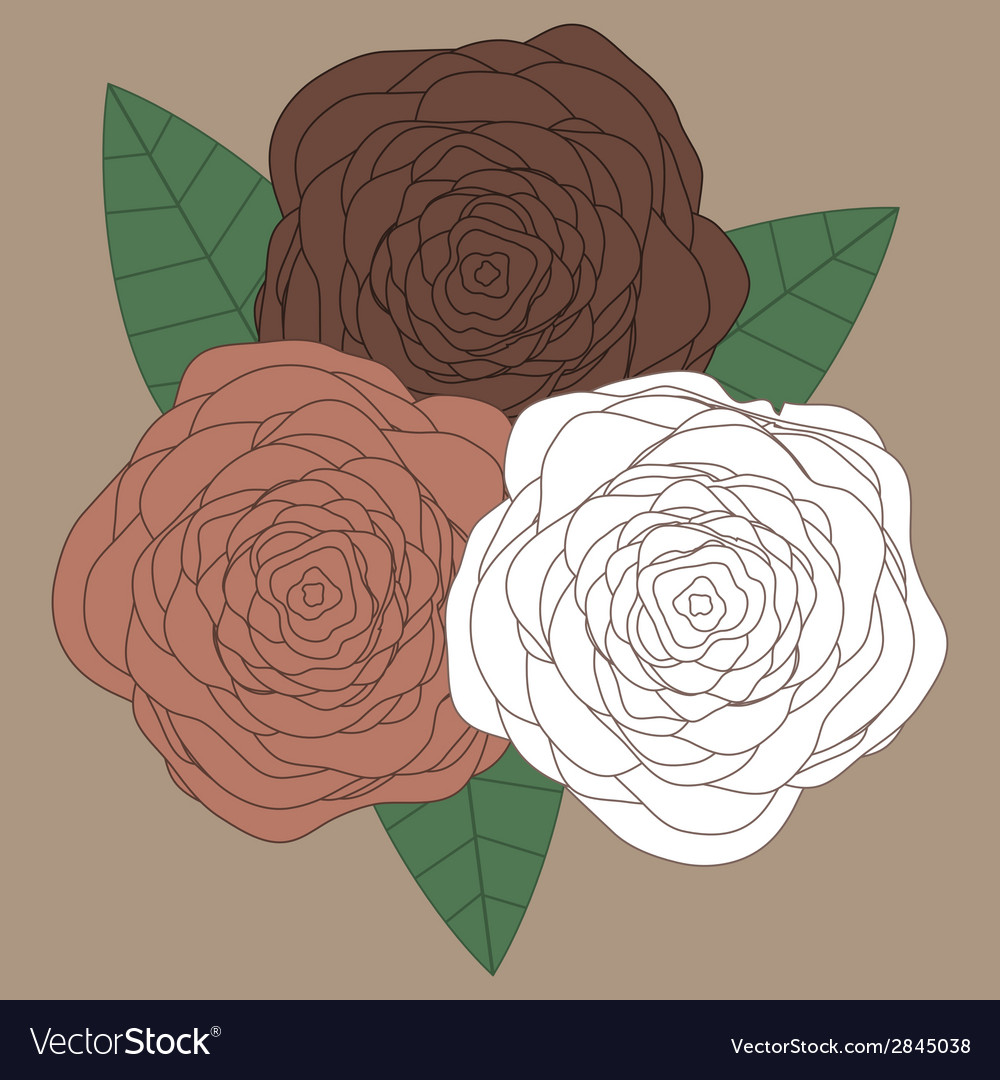 Decorative floral background with flowers of roses vector | Price: 1 Credit (USD $1)