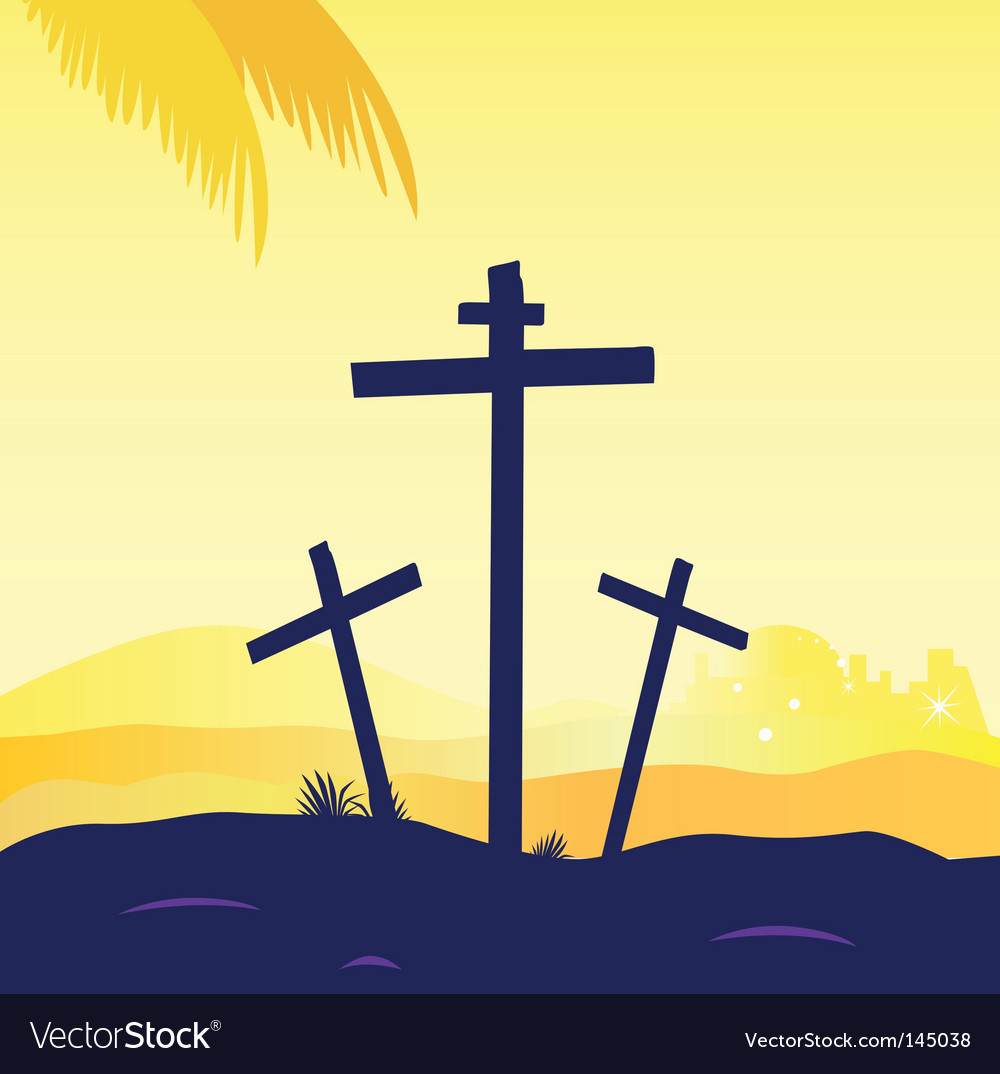 Jesus crucifixtion vector | Price: 1 Credit (USD $1)