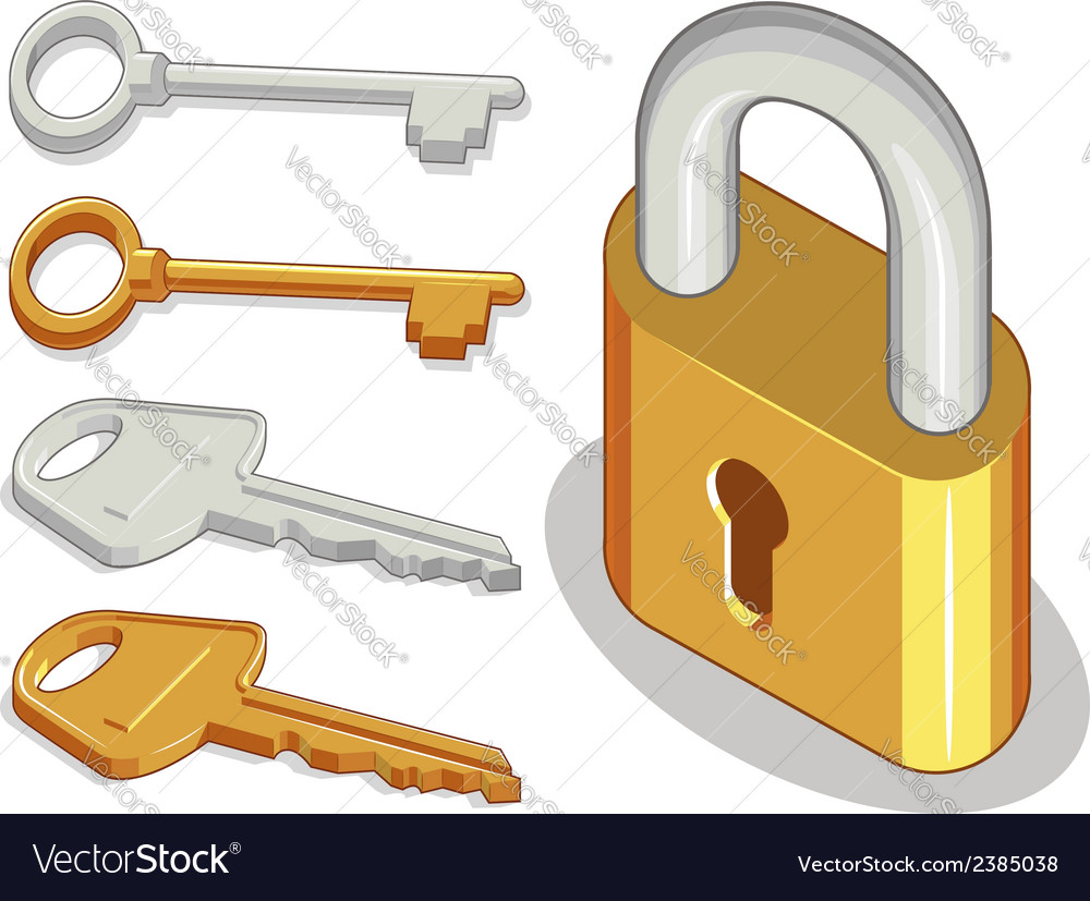 Key lock or padlock vector | Price: 1 Credit (USD $1)