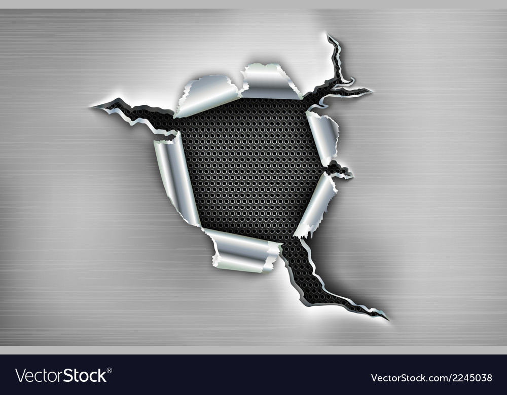Ragged hole in the metal vector | Price: 1 Credit (USD $1)