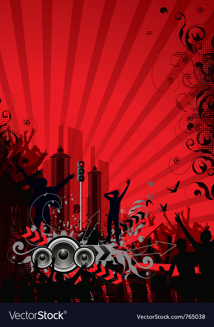 Red city background vector | Price: 1 Credit (USD $1)