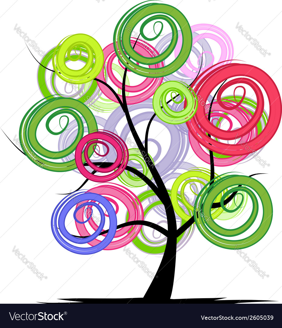 Abstract colorful tree for your design vector | Price: 1 Credit (USD $1)