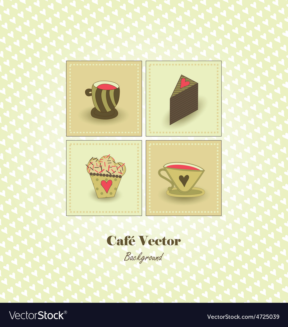 Cafe background vector | Price: 1 Credit (USD $1)