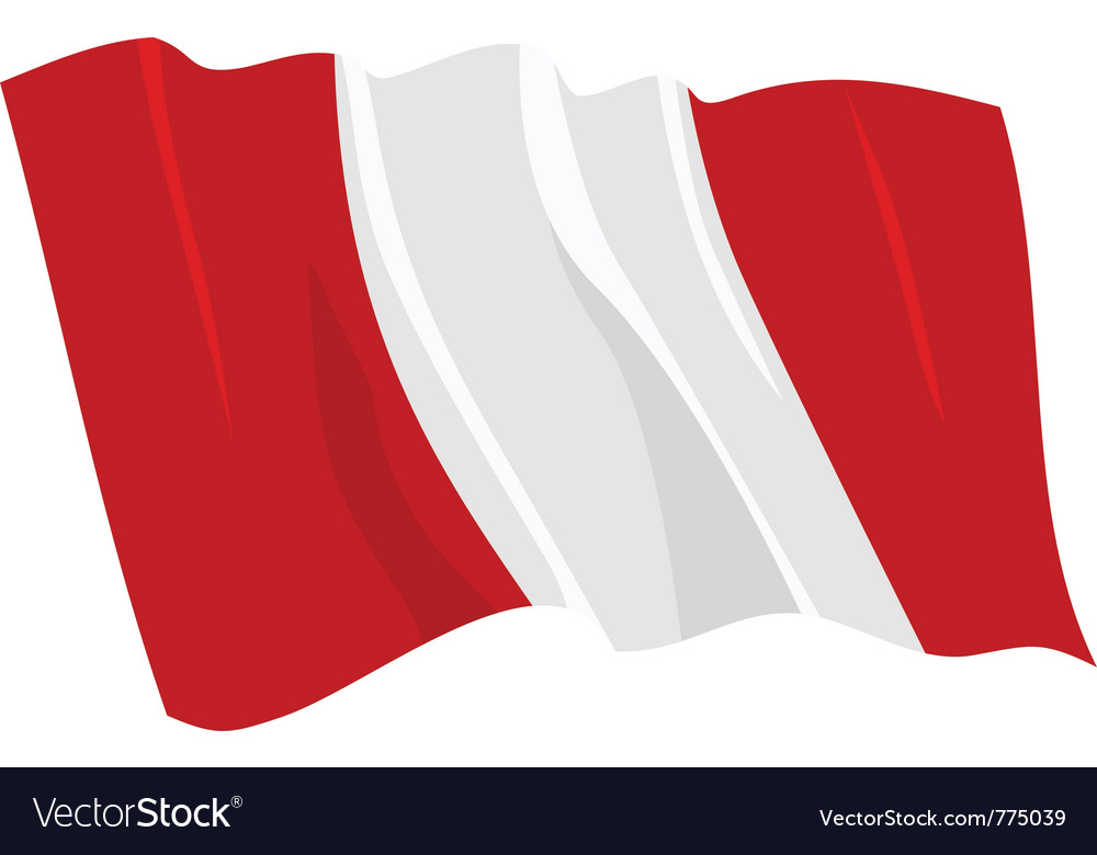 Flag of peru vector | Price: 1 Credit (USD $1)