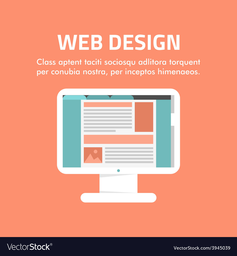 Flat design concept for web design for web vector | Price: 1 Credit (USD $1)