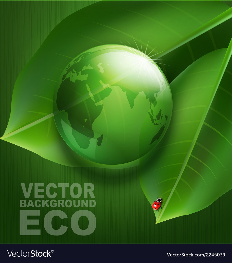 Green background on environmental issues vector | Price: 1 Credit (USD $1)