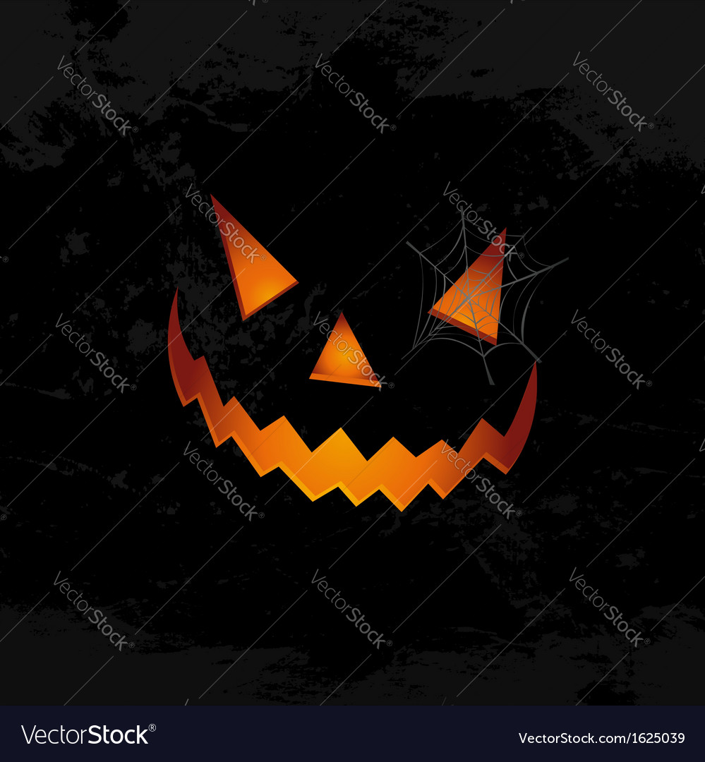 Happy halloween pumpkin face spider web eps10 file vector | Price: 1 Credit (USD $1)