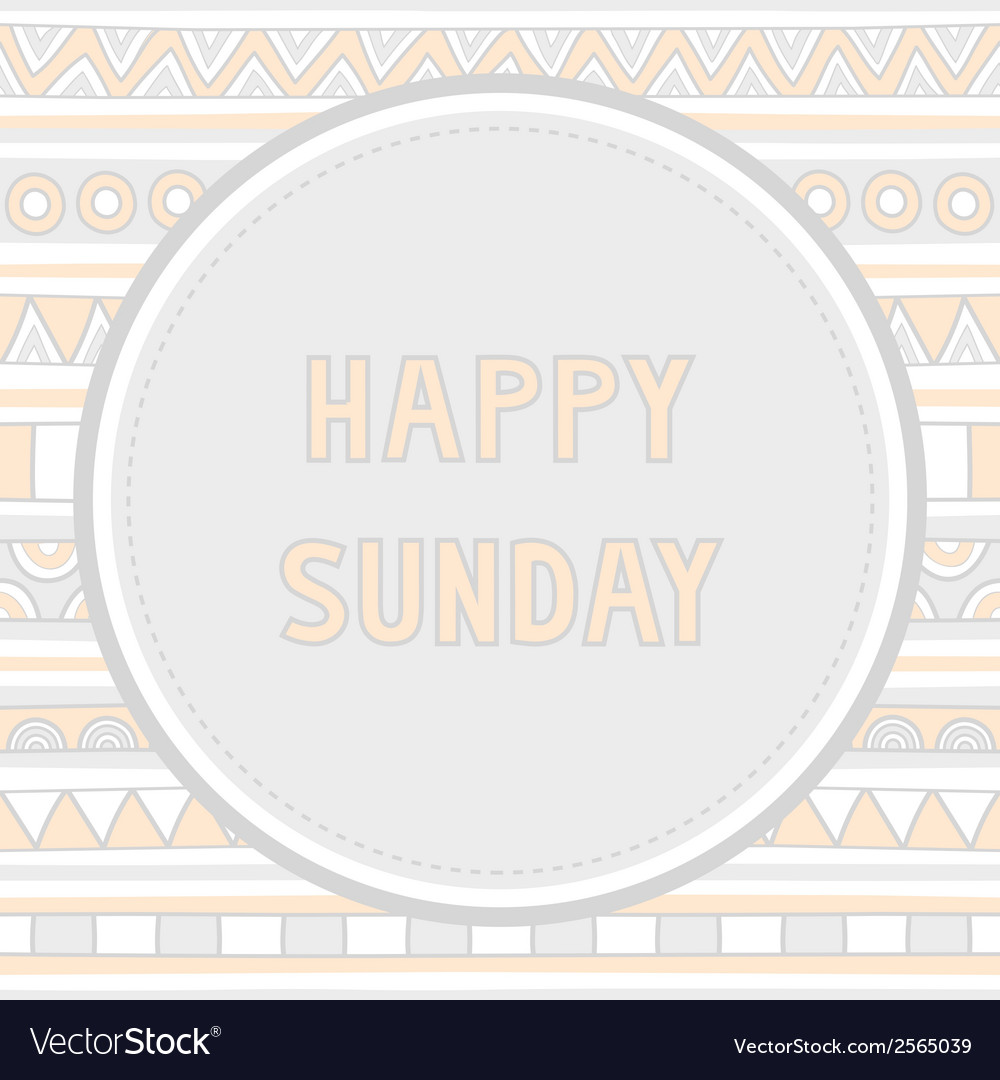 Happy sunday background1 vector | Price: 1 Credit (USD $1)
