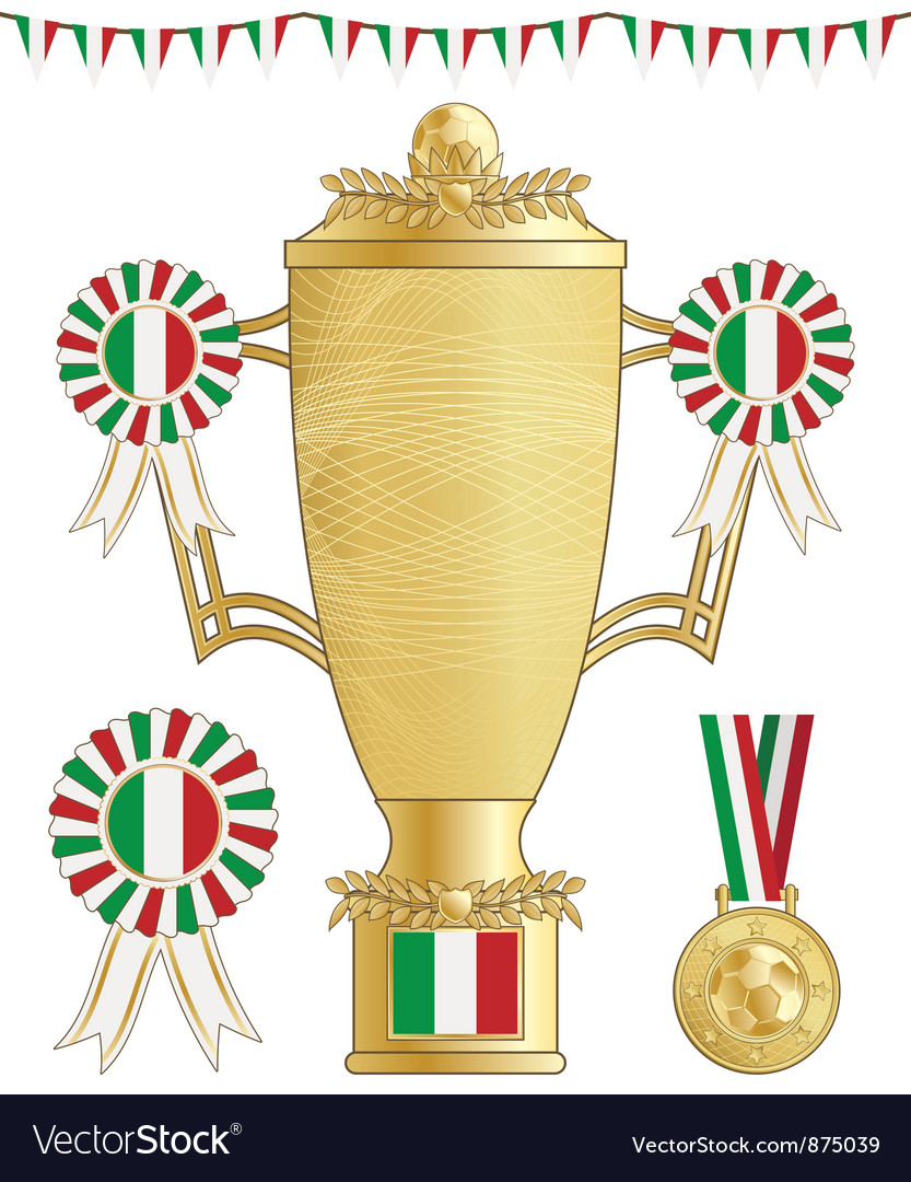 Italy football trophy vector | Price: 1 Credit (USD $1)