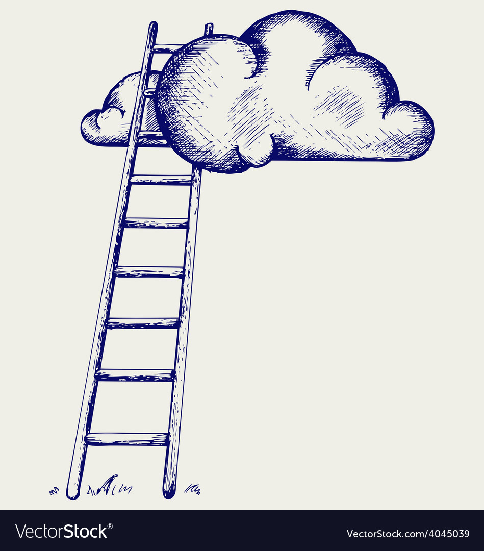 Ladder to clouds vector | Price: 1 Credit (USD $1)