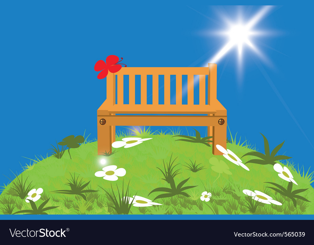 Lawn bench vector | Price: 1 Credit (USD $1)