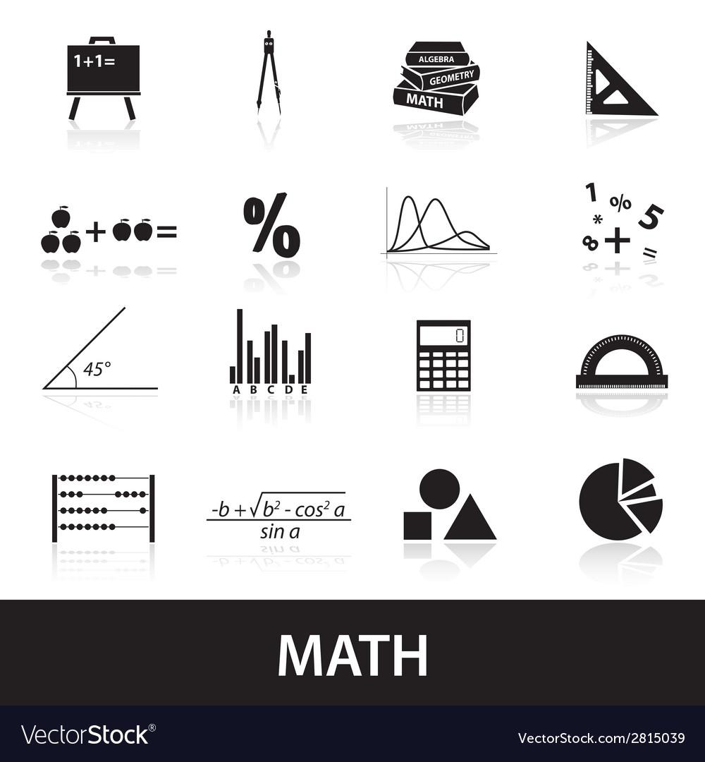 Mathematics icons set eps10 vector | Price: 1 Credit (USD $1)