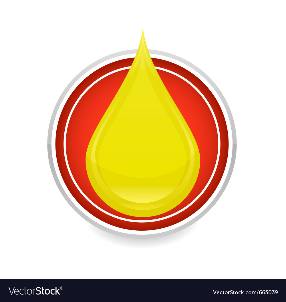 Oil drop symbol vector | Price: 1 Credit (USD $1)